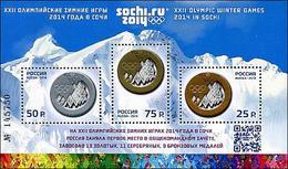 2014 RUSSIA Overprint On Sochi 2014 Medals. S/S Of 3v - Winter 2014: Sochi