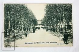 Old Postcard France, Beziers - Le Théâtre Et Les Allées Paul Riquet - Animée - Unposted - Beziers