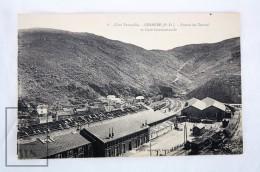 Old Postcard France, Cerbere - Cote Vermeille - Entrée Du Tunnel Et Gare Internationale - Train Station - Unposted - Cerbere