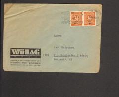 """Alli.Bes. Fernbrief M.2 X 24 Pfg.Ziffer A.Stuttgart 9 V.18.10.46 M.Serienstempel""""Fasse Dich Kurz Am Fernsprecher"""" - Gemeinschaftsausgaben"""