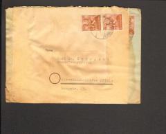 Alli.Bes. Fernbrief M.2 X 24 Pfg.Arbeiter A.Kleinheubach (Einkreissteg-Stempel) V.22.10.47 Brief Wurde Doppelt Verwendet - Gemeinschaftsausgaben