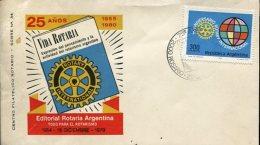 SOBRE 25° AÑOS ROTARY INTERNACIONAL  EDITORIAL ROTARIA ARGENTINA  ZTU. - Buenos Aires (1858-1864)