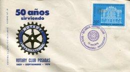 SOBRE 50° AÑOS SIRVIENDO ROTARY CLUB POSADAS REPUBLICA ARGENTINA  ZTU. - Buenos Aires (1858-1864)