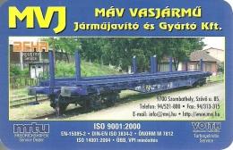 RAIL * RAILROAD * RAILWAY * TRAIN * VEHICLE REPAIR AND MANUFACTURING LTD * CALENDAR * MAV Vasjarmu 2010 3 * Hungary - Calendari