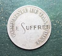 """Curieux Jeton De Restaurant """"Le Suffren (Paris)"""" Frappé Sur Un Jeton Du Taxiphone - French Emergency Token - Noodgeld"""