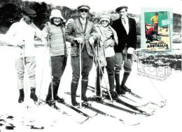 Australia 2007 Maxicard Scott #2669 $2.45 Winter Sport - 1930s Travel Posters - Maximumkarten (MC)