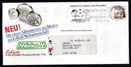 Germany: Advertorial Cover, 1985, 1 Stamp, Cancel World Championship Soccer, Football, Sports (traces Of Use) - Brieven En Documenten