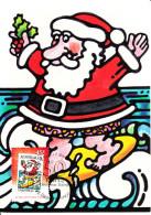 Australia 2007 Maxicard Scott #2758 45c 50 Years Of Christmas Stamps - Santa Surfing - Maximumkarten (MC)