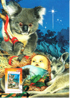 Australia 2007 Maxicard Scott #2760 45c 50 Years Of Christmas Stamps - Koala, Baby, Kangaroo - Maximumkarten (MC)