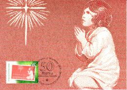Australia 2007 Maxicard Scott #2761 50c 50 Years Of Christmas Stamps - Child Praying - Maximumkarten (MC)