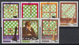 Nicaragua 1286-9 + LP/PA 1033-35 (0) – 1983 – Schaken – Jeux D'échecs - Check - Nicaragua