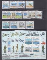 Ascension, Falkland Islands, South Georgia, St. Helena 1992 Liberation Of The Falkland Islands 4 Sets+4m/s **mnh(33682) - Sint-Helena
