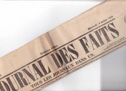 """JOURNAL DES FAITS """" Tous Les Journaux Dans Un """", N°1162  -6 Juillet 1853 - Paris Quotidien"""