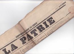 JOURNAL  - LA PATRIE - N°380  ?- 4 Dec 1851 - Paris Quotidien - Napoleon III 3 émeutes - Journaux - Quotidiens