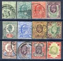 UK Edward VII 1902 Serie 108-117 Effige Di Re Edoardo VII In Vari Riquadri (manca N. 114-6 P. Violetto) Usati Cat. € 140 - 1902-1951 (Re)