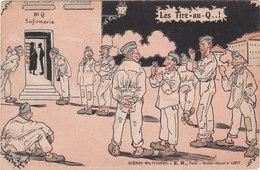 Carte Postale Ancienne Illustrée - Humoristique - Les Tire-au-Q..!- Scènes Militaires - Humor