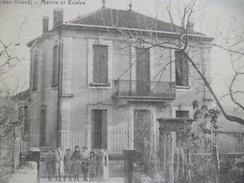 CPA 30 Gard Sardan Mairie Et école - France