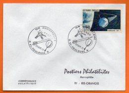 31 TOULOUSE  10° ANNIV. C.N.E.S. ( Timbre Concordant )    1972  Lettre Entière  N° X 474 - Covers & Documents