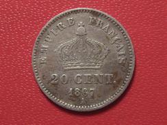 20 Centimes Napoléon III 1867 A Paris 5263 - Francia