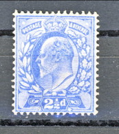 UK Edward VII 1902  N. 110 - 2,6 Penny Azzurro MNH ** Cat. € 35 - 1902-1951 (Re)