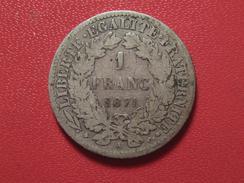 1 Franc Cérès 1871 A Paris 5212 - Francia