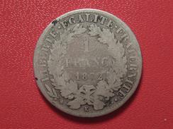 1 Franc Cérès 1872 K Bordeaux 5204 - H. 1 Franc