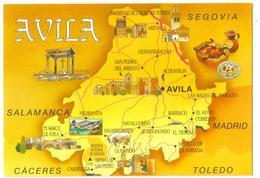 Carte Postale Année 90 Avila (Espagne) Multi-vues - Espagne