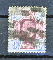 UK Edward VII 1902  N. 115 - 9 Penny Razzurro E Viola Usato Cat. € 40 - 1902-1951 (Re)