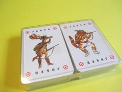 2 Jeux De  55  Cartes à Jouer/Différents/ Illustrés Scénes De Chasse/ Sous Coffret Plastique /Paris/Vers 1990    CAJ25 - Jeux De Société