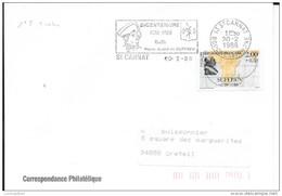 N°  2522 FANCE  - SUFFREN  -  TARIF DU 16.08.87 AU 10.01.90 - 1ER JOUR -FLAMme CORRESPOND ST  CANNAT - Marcophilie (Lettres)