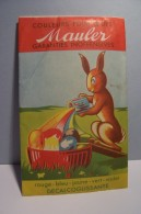 PAQUES  -- COULEURS  POUR  OEUFS  DE  PAQUES ( Feuillet Colorant )  -- Année  ??? - LAPIN - Easter