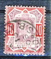 UK Edward VII 1902 N. 116 - 10 Penny Rosso E Bruno Usato Cat. € 40 - 1902-1951 (Re)