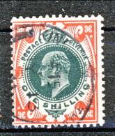 UK Edward VII 1902 N. 117 - 1 Scellini Rosso E Verde Usato Cat. € 17 - 1902-1951 (Re)