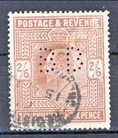 UK Edward VII 1902 N. 118 - 2,5 Scellini Violetto PERFIN Usato Cat. € 90 - 1902-1951 (Re)