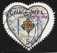 N° 3632  FRANCE  -  OBLITERE  -  ST VALENTIN COEUR CHANEL   -  2004 - France