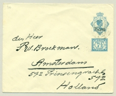 Suriname - 1925 - 7,5 Cent Opdruk Op Envelop 12,5 Cent + 7,5 Cent, G14 Naar Amsterdam - Suriname ... - 1975