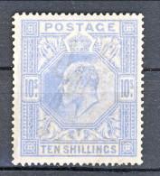 UK Edward VII 1902 N. 120 - 10 Scellini Azzurro Fil. Ancora N. 9 MLH Cat. € 1000 - 1902-1951 (Re)