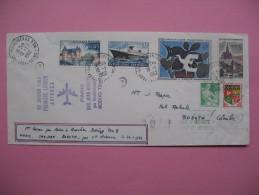 Enveloppe Première Liaison Boeing 720 B Paris-St-Juan-Bogota Par La Compagnie Avianca 20 Janvier 1962 - Used Stamps