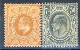 UK Edward VII 1909-10 Edoardo VII Serie N. 122-123 MH Cat. € 18 - 1902-1951 (Re)