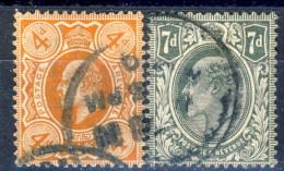 UK Edward VII 1909-10 Edoardo VII Serie N. 122-123 Usati Cat. € 24 - 1902-1951 (Re)