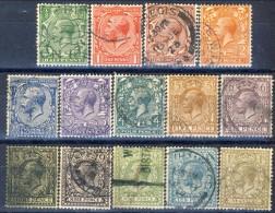Giorgio V 1912-22  Serie N. 139-152 (manca N. 148) Usati Catalogo € 83 - 1902-1951 (Könige)