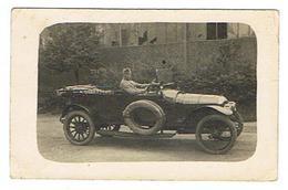 CARTE PHOTO  MILITARIA Militaire Dans Automobile   Limoges 1920 140e Compagnie Auto - Ausrüstung