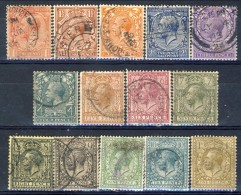 Giorgio V 1912-22  Serie N. 139-152  Usati Catalogo € 88 - 1902-1951 (Re)