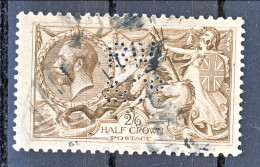 UK Giorgio V 1913 N. 153 S. 2,5 Bruno Seppia Fondo A Linee Orizzontali Usato  Perforato Catalogo € 100 - 1902-1951 (Könige)