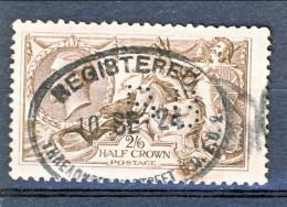 UK Giorgio V 1913 N. 153 S. 2,5 Bruno Seppia Fondo A Linee Orizzontali Usato  Perforato Catalogo € 100 - Unclassified