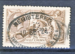 UK Giorgio V 1913 N. 153 S. 2,5 Bruno Seppia Fondo A Linee Orizzontali Usato  Perforato Catalogo € 100 - 1902-1951 (Re)