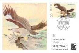 CHINE CARTE  MAXIMUM    NUM.YVERT 2815 OISEAUX DE PROIE - Maximum Cards