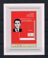 Albanien 1981 Enver Hoxha Block 74 ** - Albania