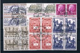 Dänemark Kleines Lot Von 6 4er Blöcken Gestempelt - Lotes & Colecciones