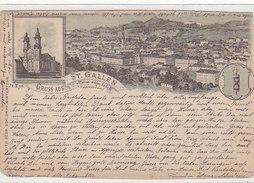 Gruss Aus St.Gallen - Vorläufer-Litho - 1890 - Verl.Schlumpf          (P12-30916) - SG St-Gall
